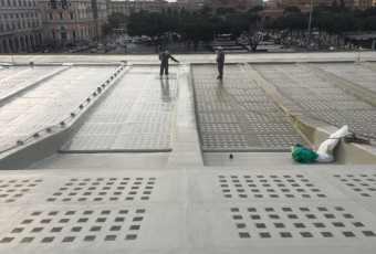 COVERFLEX ROOFING ROME TERMINI RAILWAYS STATION