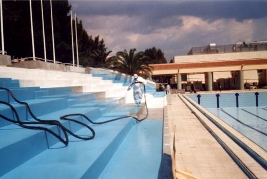 COVERFLEX su gradoni piscina olimpica