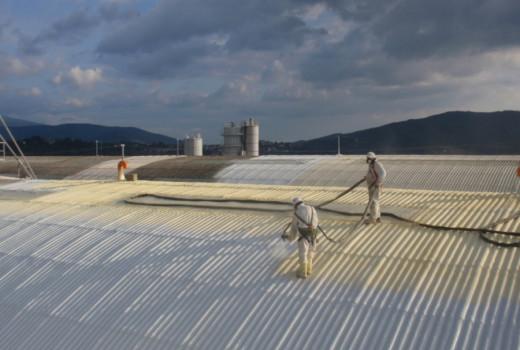 Impermeabilizzazione, isolamento termico ed incapsulamento della copertura in lastre di cemento amianto
