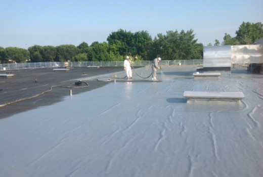 COVERFLEX ROOFING ON THE VERY OLD BITUMEN SHEET ROOF