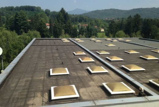 Impermeabilizzazione COVERFLEX copertura in guaina dell'Istituto Magistri Cumacini