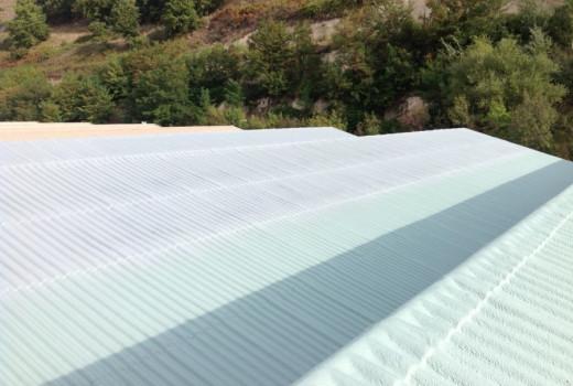 Impermeabilizzazione COVERFLEX delle coperture a shed dello stabilimento FONTE GAUDIANELLO SpA