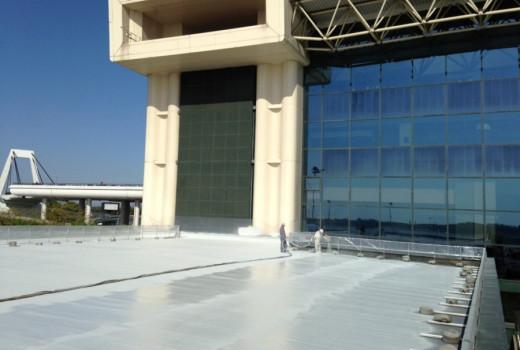 Impermeabilizzazione COVERFLEX copertura in guaina GATE A32-A39 MALPENSA AIRPORT